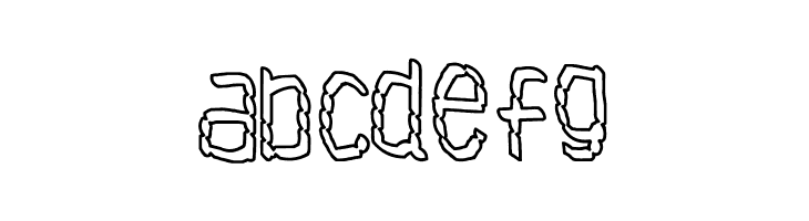 ABCDEFG Antibiotech Font